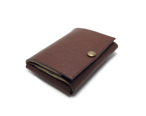 Sakao Co Simple Fold Leather Wallet
