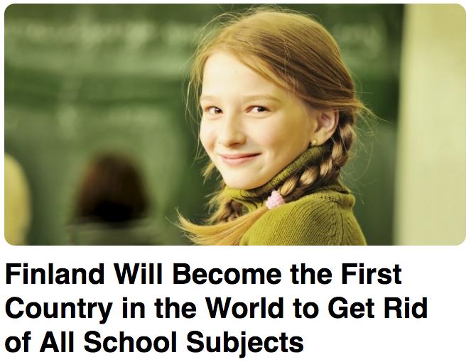 【先端教育】フィンランドで科目ごとの個別教育が撤廃される?【全訳】