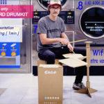 持ち運べるダンボール製のドラムキット!!「OBILAB THE DRUMKIT」の演奏レポート。
